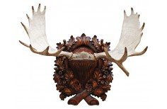Carved Taxidermy trophy shield base for an elk trophy